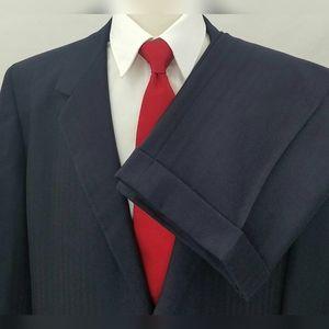 Oxxford Clothes Navy Blue Suit